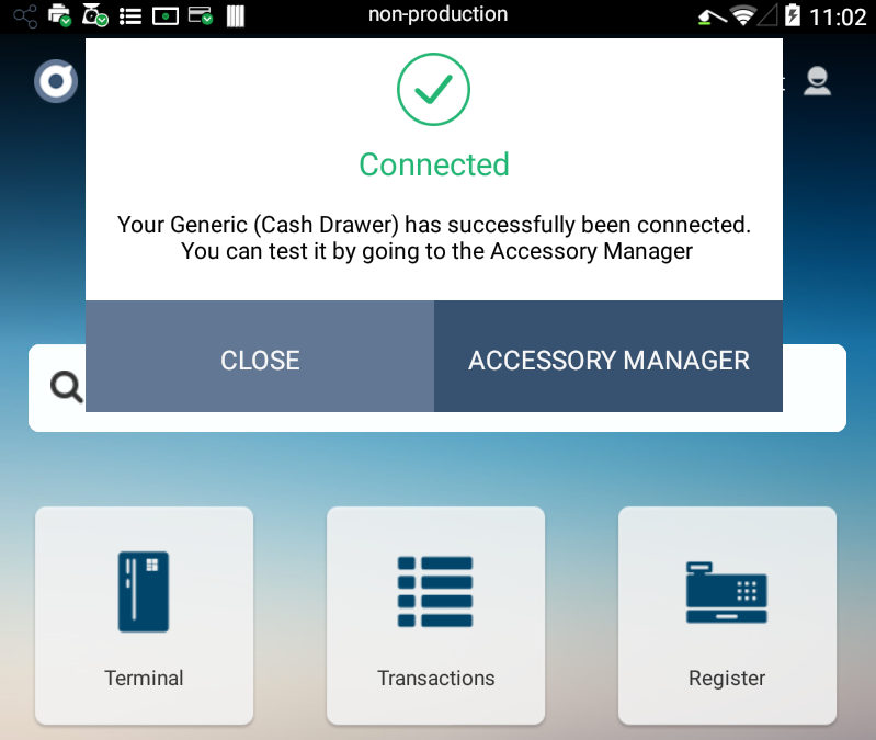 Accessory Manager Notification